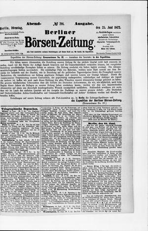 Berliner Börsen-Zeitung vom 25.06.1872