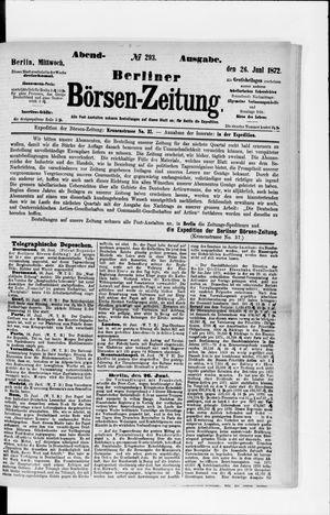 Berliner Börsen-Zeitung vom 26.06.1872