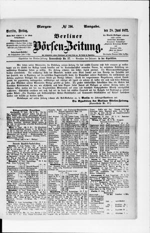 Berliner Börsen-Zeitung vom 28.06.1872