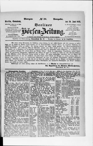 Berliner Börsen-Zeitung vom 29.06.1872