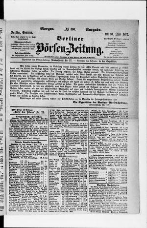 Berliner Börsen-Zeitung vom 30.06.1872