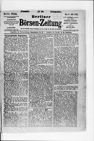 Berliner Börsen-Zeitung vom 01.07.1872