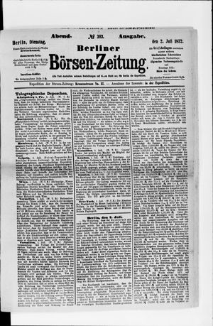 Berliner Börsen-Zeitung vom 02.07.1872