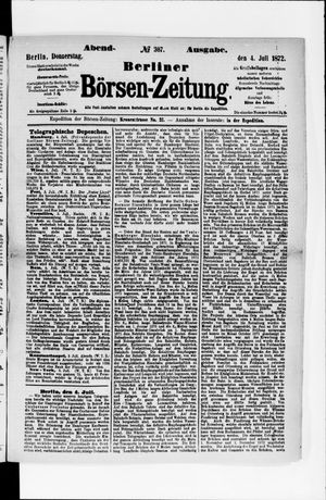 Berliner Börsen-Zeitung vom 04.07.1872