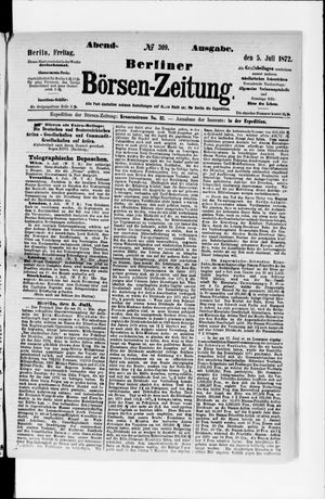 Berliner Börsen-Zeitung vom 05.07.1872