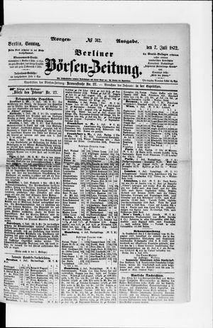 Berliner Börsen-Zeitung vom 07.07.1872