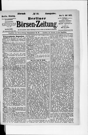 Berliner Börsen-Zeitung vom 09.07.1872