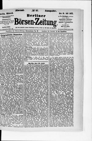 Berliner Börsen-Zeitung vom 10.07.1872