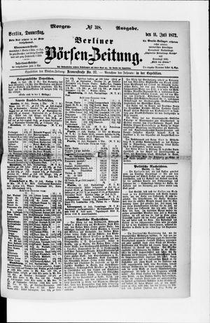Berliner Börsen-Zeitung vom 11.07.1872