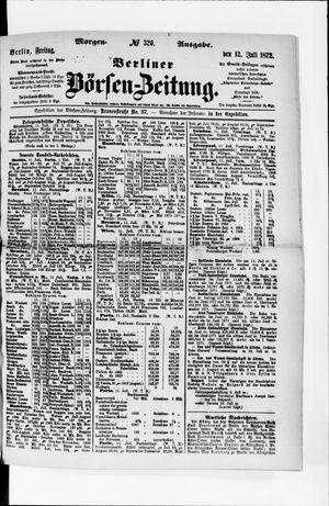 Berliner Börsen-Zeitung vom 12.07.1872