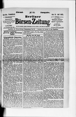 Berliner Börsen-Zeitung vom 13.07.1872
