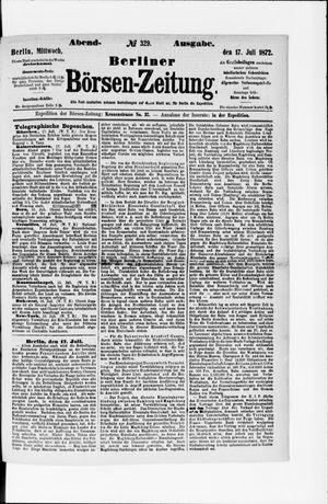 Berliner Börsen-Zeitung vom 17.07.1872