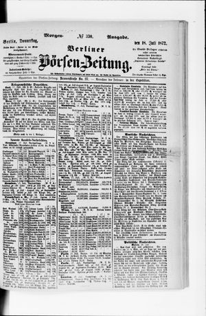 Berliner Börsen-Zeitung vom 18.07.1872