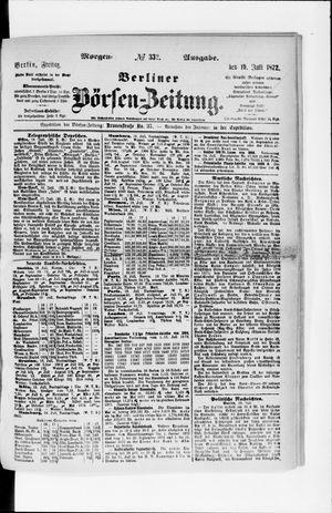 Berliner Börsen-Zeitung vom 19.07.1872