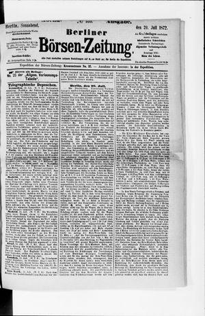 Berliner Börsen-Zeitung vom 20.07.1872