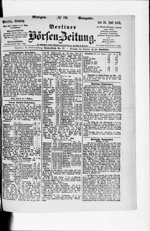 Berliner Börsen-Zeitung vom 21.07.1872