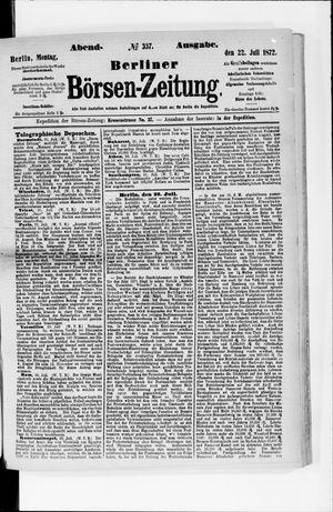 Berliner Börsen-Zeitung vom 22.07.1872