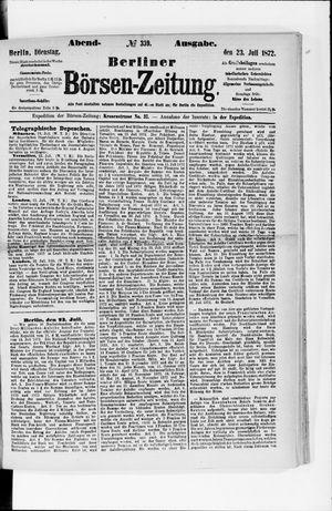 Berliner Börsen-Zeitung vom 23.07.1872