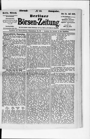 Berliner Börsen-Zeitung vom 24.07.1872