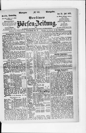 Berliner Börsen-Zeitung vom 25.07.1872