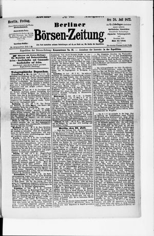 Berliner Börsen-Zeitung vom 26.07.1872