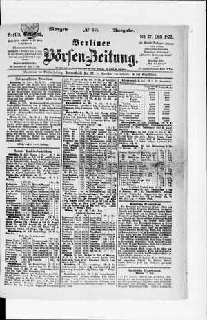 Berliner Börsen-Zeitung vom 27.07.1872
