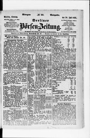 Berliner Börsen-Zeitung vom 28.07.1872