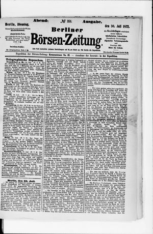 Berliner Börsen-Zeitung vom 30.07.1872