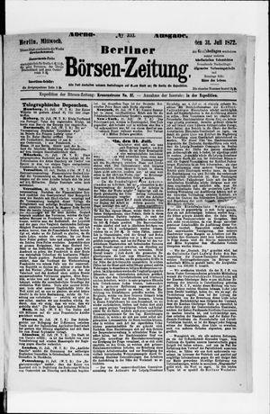 Berliner Börsen-Zeitung vom 31.07.1872