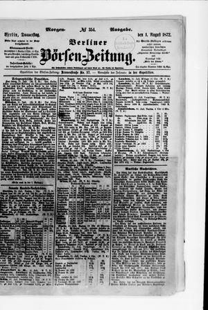 Berliner Börsen-Zeitung vom 01.08.1872