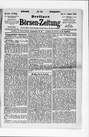 Berliner Börsen-Zeitung vom 02.08.1872