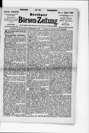 Berliner Börsen-Zeitung vom 03.08.1872