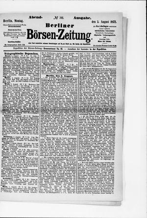 Berliner Börsen-Zeitung vom 05.08.1872
