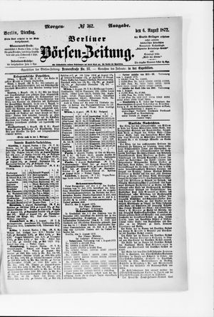 Berliner Börsen-Zeitung vom 06.08.1872