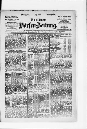 Berliner Börsen-Zeitung vom 07.08.1872