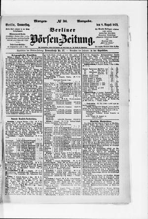 Berliner Börsen-Zeitung vom 08.08.1872