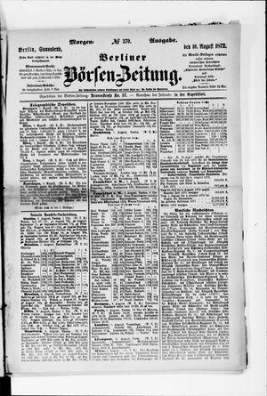 Berliner Börsen-Zeitung vom 10.08.1872