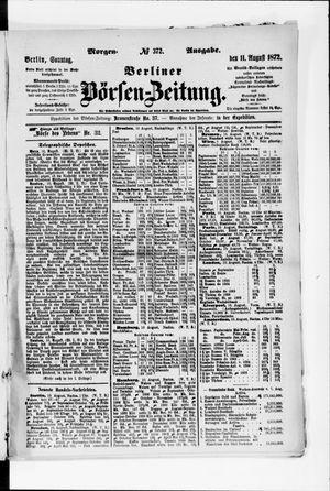 Berliner Börsen-Zeitung vom 11.08.1872