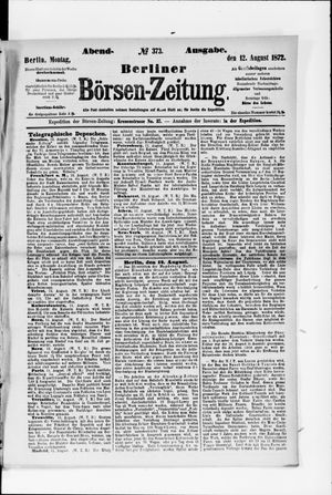 Berliner Börsen-Zeitung vom 12.08.1872