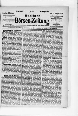 Berliner Börsen-Zeitung vom 13.08.1872