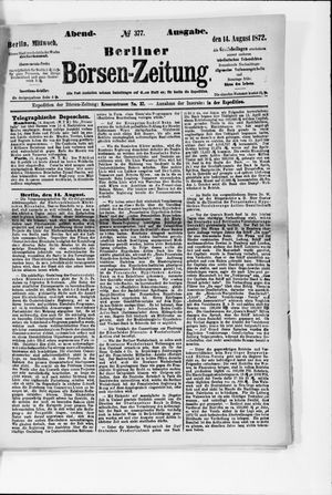 Berliner Börsen-Zeitung vom 14.08.1872