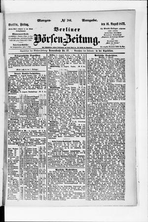 Berliner Börsen-Zeitung vom 16.08.1872