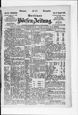 Berliner Börsen-Zeitung vom 17.08.1872