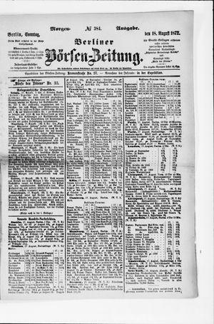 Berliner Börsen-Zeitung vom 18.08.1872