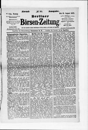 Berliner Börsen-Zeitung vom 19.08.1872