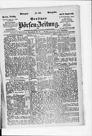 Berliner Börsen-Zeitung vom 20.08.1872
