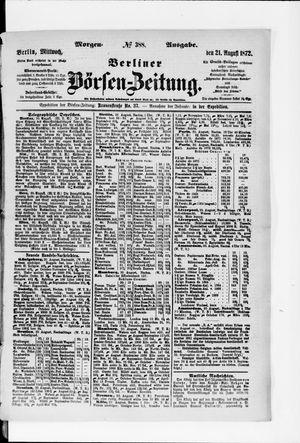 Berliner Börsen-Zeitung vom 21.08.1872