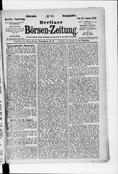 Berliner Börsenzeitung (22.08.1872)