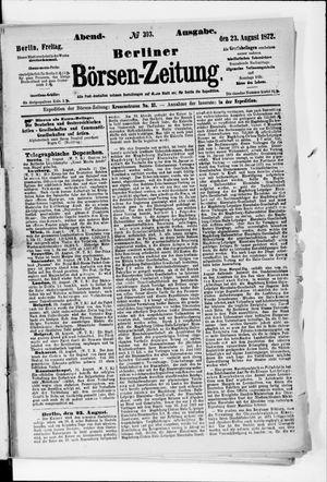 Berliner Börsen-Zeitung vom 23.08.1872