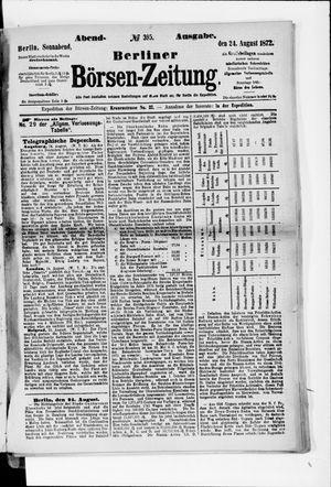 Berliner Börsen-Zeitung vom 24.08.1872